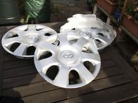 14 inch TOYOTA wheel trims, all new, three only ,sell all three or separately.