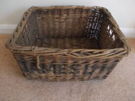Old wicker basket very good condition but grubby