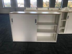 office furniture sliding door white cupboard 1.6 meters