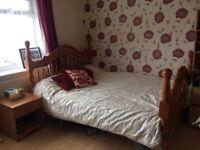 King size mattress + bed
