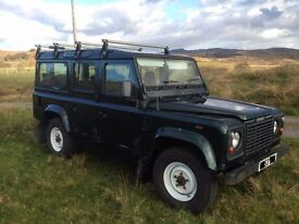 Land Rover Defender 110, TD5, CSW, 2003, Epsom Green