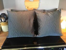 Dark Grey Ribbed Cushions
