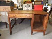 VINTAGE OAK DESK CIRCA 1940'S MADE OF SOLID OAK IN GOOD CONDITION READY TO USE £40 NO OFFERS