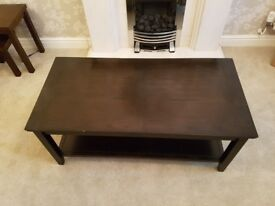 John Lewis Dark Wood Coffee Table