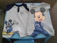 3-6 month Disney baby rompers