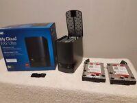 Wd my cloud ext ultra, 8tb dual nas ,2x 4gb wd red drives, plex, 100 3d movies, 1000 1080p movies.