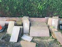 Indian paving slabs used