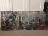 London scene canvas print