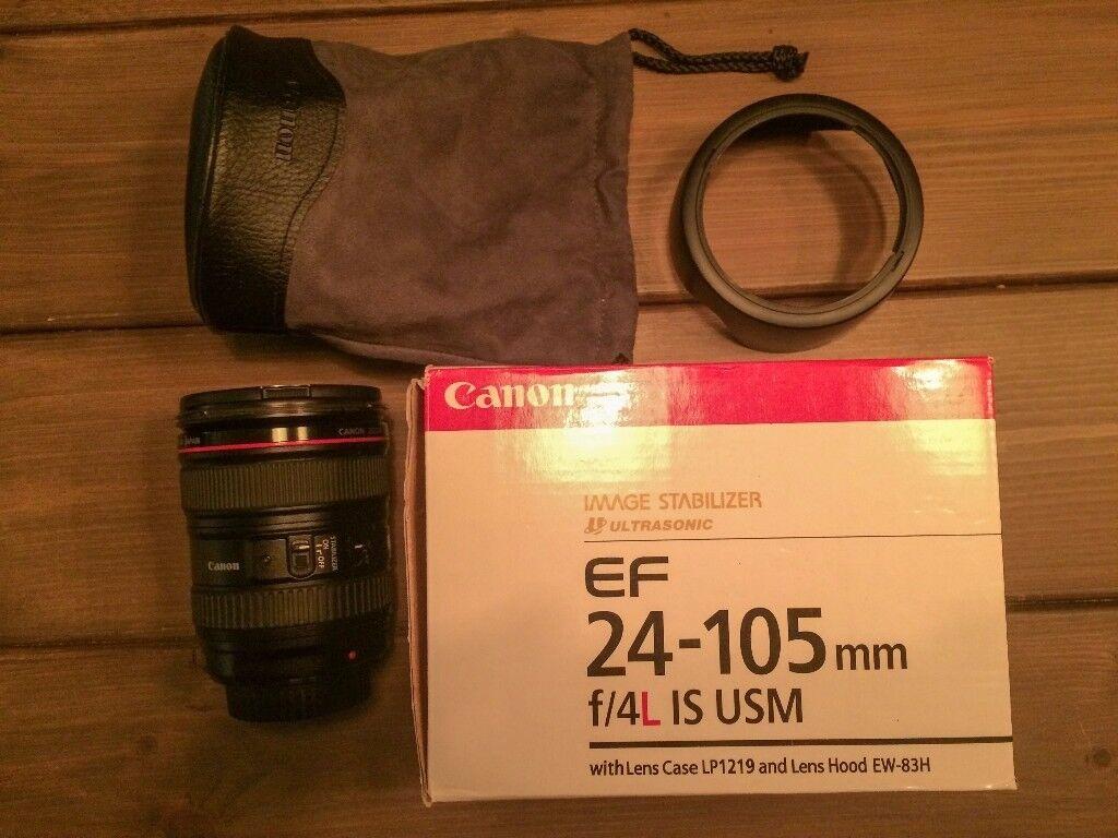 Canon L 24-105 F/4 L IS USM Lens Excellent Condition