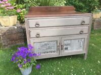Stunning Antique Oak Pot Cupboard. Shabby Chic. Annie Sloan.