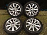 17'' GENUINE VW PORTO GOLF MK6 GT ALLOY WHEELS TYRES ALLOYS GTI GTD MK5 MK7 CADDY PASSAT JETTA 5x112