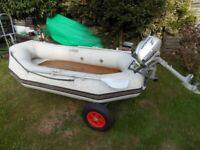 inflatable dinghy tender Honda 2.3 outboard engine