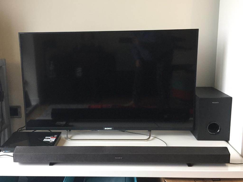 Sony Smart TV 42-inch + sound bar + sub woofer speakers