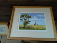 Framed prints of windmills and Aeroplanes