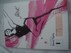 """Move"" Ladies Pink Microfibre Stirrup dance tights (S/M)"