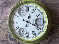 Taskers green wall clock. Large size.