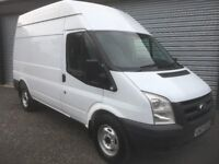 2011 FORD TRANSIT 140 BHP 2.2 FWD T350 6 SPEED MWB H/ROOF FULL 12 MONTHS TEST DEBIT & CREDIT CARDS