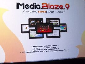 "iMEDIA.BLAZE 9 - 9"" ANDROID SUPERSMART TABLET (LIKE NEW AND BOXED)"