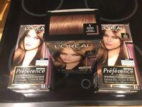 Loreal paris Hair colours brand new natural light brown