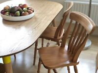 2x Vintage Wooden Chairs