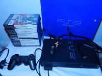 Playstation 2 Console plus 13 games & 8mb memory card