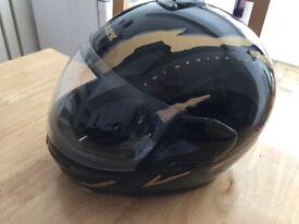 SHARK black and gold motorbike helmet