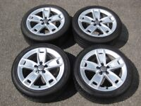 GENUINE OEM Audi A3 17' Alloys & Tyres