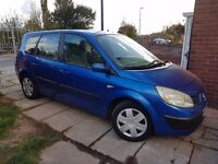 2005 Renault grand scenic 7 seater 1.6 engine 7m mot good condition new clutch fitted recently