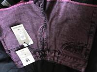 Pink denim shorts