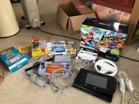 Nintendo Wii u bundle console and games