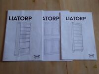 DVD/CD cabinet has 7 glass shelves. Ikea Liatrop