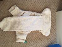 Large bundle reusable nappies Tots bots Little Lamb