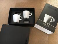 Nespresso Espresso cups and saucers - Brand new unused