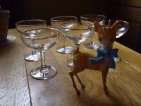 BABYCHAM GLASSES AND DEER