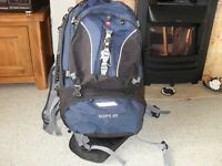 Tresspass Scope 65Litre backpack with detachable day sack.