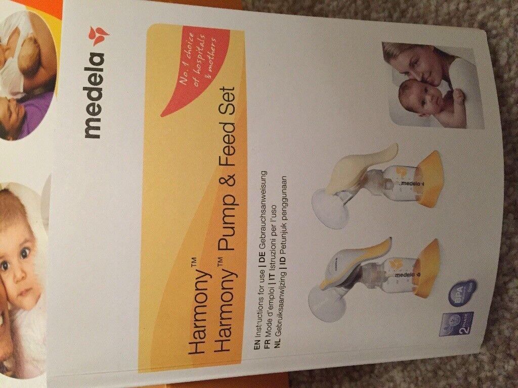 Breast pump - medela harmony pump & feed set