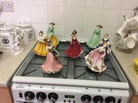 Royal doulton and Coalport dollys