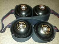 Henselite Classic Deluxe Size 3 lawn indoor short mat bowls balls wood ladies mens