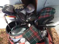 Section of golf clubs