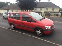 7 Seat 2003 Vauxhall Zafira with long MOT ,ideal for family,last serviced June ,px welcome