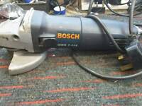Bosch angle grinder, black and Decker curculer saw