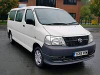 Toyota hiace 9 seater mini bus