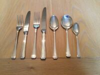 58 Piece Silver Plated Viners Cutlery Set Dinner Service serves 8