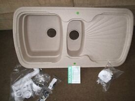 Superbowl 150 Oatmeal Granite Sink. SCK6204 Brand New and Boxed