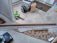 White scotia and expansion strips for laminate flooring