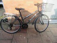 ladies mountain bike with bike lock £45.00