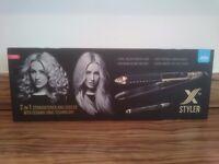 JML 2 in 1 Hair Straightener and Curler. NEW