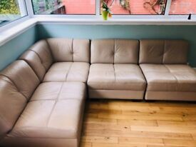 DFS 4 Piece Leather Corner Suite