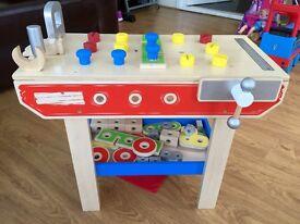 TIDLO Wooden Toy Workbench