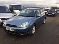 52 REG DIESEL FORD FOCUS IN NICE CLEAN CONDITION MOTED VERY ECONOMICAL LOVELY DRIVER ZETEC MODEL VGC